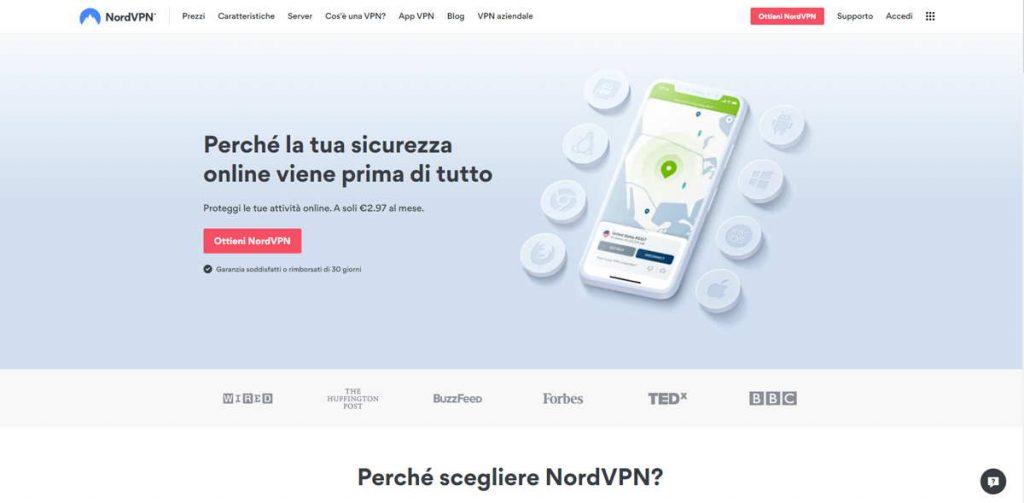 NordVPN nella classifica delle Migliori VPN