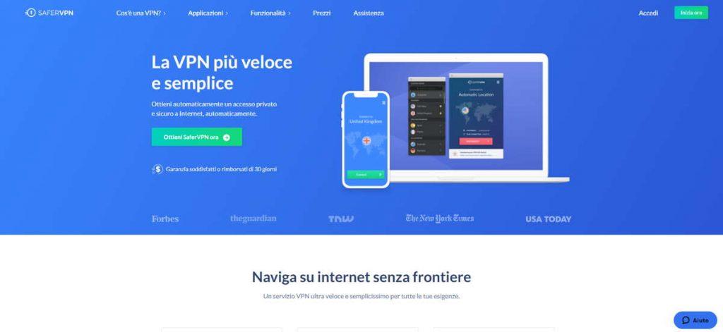 SaferVPN nella classifica delle Migliori VPN