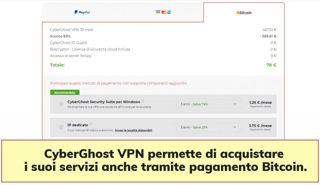 CyberGhost VPN Bitcoin